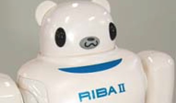 RIBA-II uses smart rubber sensors—the first capacitance-type tactile sensors made entirely of rubber.