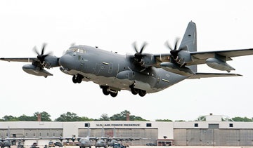 The Hercules C-130J taking off. Photo: Lockheed Martin