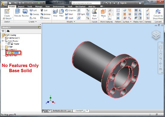 Modifying 3rd Party CAD data with Inventor Fusion 2012