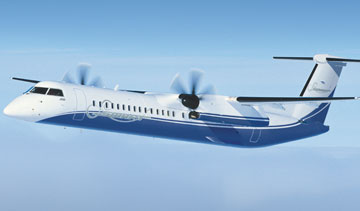 Bombardier Q400 NextGen turboprop. PHOTO Bombardier Aerospace