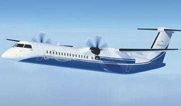 Bombardier Q400 NextGen turboprop. PHOTO Bombardier Aerospace