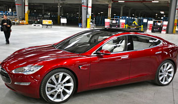 The Tesla Model S now boasts all-aluminum construction. PHOTO: jurvetson