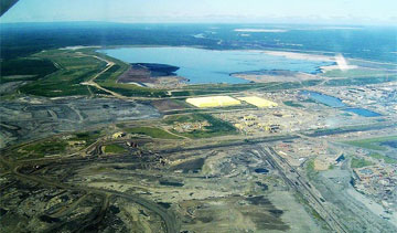 Syncrude's Mildred Lake operation handles froth cleaning, treatment and bitumen upgrading.