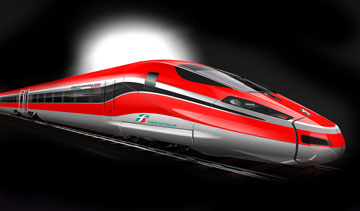 Bombardier's new Frecciarossa 1000 offers the lowest energy consumption per seat of any very high speed train. PHOTO Bombardier Transportation