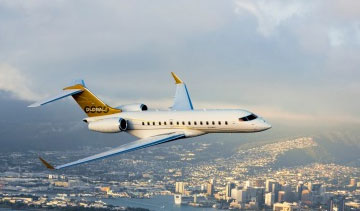 The Bombardier Global 6000 business jet is well suited to defence applications. PHOTO: Bombardier