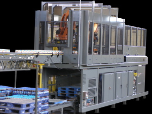 Intelligrated Alvey 950 hybrid palletizer