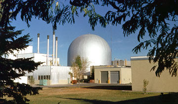 An example of a fast-neutron reactor, the sodium-cooled EBR-II. PHOTO Argonne National Laboratory