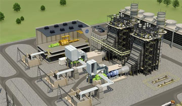 GE's FlexEfficiency 60 Combined-Cycle Power Plant. PHOTO: GE
