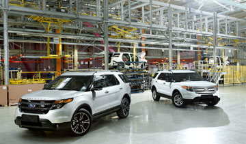 Ford says a portion of its Explorer production has been moved to the Elabuga Assembly Plant in Russia to meet growing global demand for SUVs. PHOTO Ford