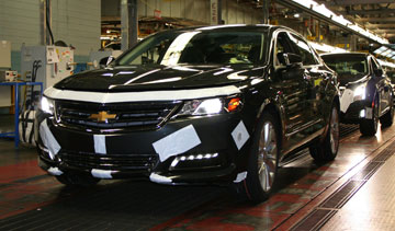 The new 2014 Chevrolet Impala will be built at the Oshawa, Ont., and Detroit-Hamtramck, Mich., assembly plants. PHOTO General Motors