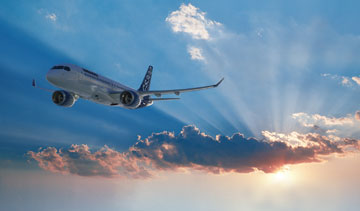 Bombardier's CSeries commercial jet is expected to compete with some of the smaller planes made by Boeing and Airbus. PHOTO Bombardier