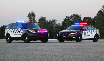 Ford's Police Interceptor sedan and SUVs also have a  surveillance mode to help protect officers when parked. PHOTO Ford