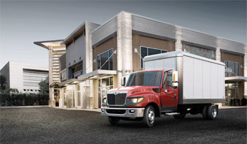 The Navistar Terrastar four-wheel-drive, medium-duty truck. PHOTO: Navistar