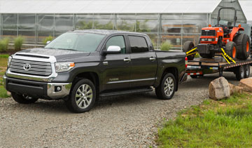 The Toyota Tundra full-size pick-up truck. is built in the company's Texas plant. PHOTO: Toyota