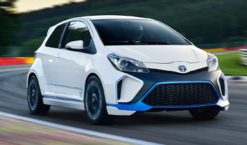 The Toyota Yaris Hybrid-R. The company has consistently expanded its hybrid lineup since launching the Prius in 1997. PHOTO Toyota