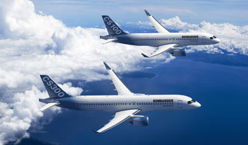 Bombardier says its long-delayed CSeries jet is on track. PHOTO Bombardier