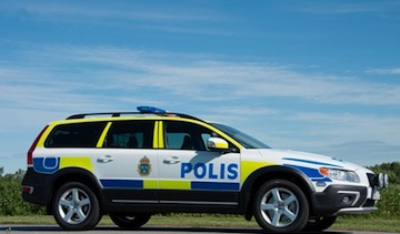 Swedish Volvo XC70 police car. (Photo: Volvo)