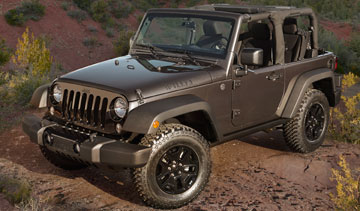 The 2014 Jeep Wrangler Willys Wheeler edition features a Dana 44 rear axle limited slip differential and a Dana 30 up front. PHOTO Chrysler