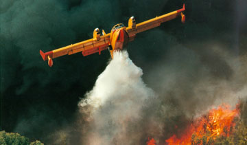 A total of 90 Bombardier 415 amphibious planes have been delivered to governments and firefighting agencies around the world since 1994. PHOTO Bombardier