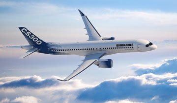 Iraqi Airways has signed a letter of intent to acquire five CS300 jetliners, the first customer commitment for the Bombardier plane announced at the Dubai Airshow. PHOTO Bombardier