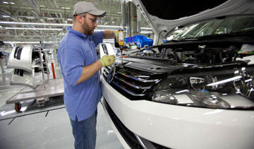 Volkswagen plans to invest more than $120-billion over the next five years into increasingly efficient vehicles and technologies and environmentally-friendly auto production. PHOTO Volkswagen