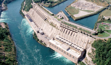 The Sir Adam Beck Generating Station in Niagara Falls, Ont. PHOTO Ontario Power Generation