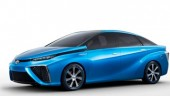 "Toyota's the front and rear styling reveals a ""W"" motif, symbolising the fuel cell cooling system."