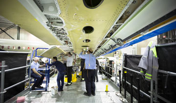 Bombardier is laying off 1,700 employees in its aerospace division, mostly in Montreal, as it steps up efforts to cut costs amid delays with two new aircraft and a tough market. PHOTO Bombardier