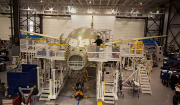 Bombardier has confirmed the entry-into-service of its CSeries passenger jets will be pushed into the second half of 2015. PHOTO Bombardier