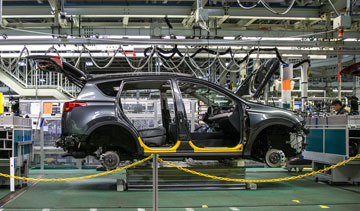 Toyota RAV4 assembly at Toyota Manufacturing Canada Inc. in Woodstock, Ont. PHOTO Toyota