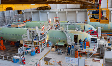 Airbus A320 passenger jets are built in Toulouse, France. PHOTO Airbus