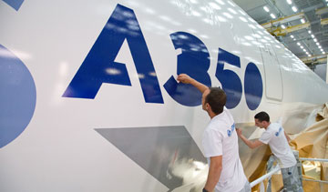 The new Airbus A530 passenger jet is expected to go into service with launch customer Qatar Airways in the fourth quarter of 2014. PHOTO Airbus