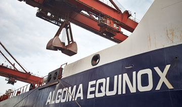 Algoma Central Corp.'s M.V. Algoma Equinox dry-bulk carrier. PHOTO Algoma Central