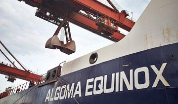 Algoma Central Corp.'s M.V. Algoma Equinox dry-bulk carrier. PHOTO Algoma Central