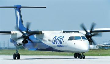 Bombardier's Q400 NextGen turboprop. PHOTO Bombardier