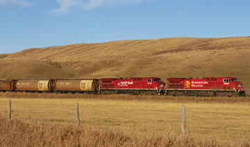 Canada is the world's third largest exporter of grain. PHOTO CP Rail