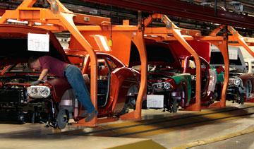 Chrysler's Brampton, Ont., assembly plant. PHOTO Chrysler