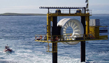 OpenHydro has been selected to build a four-megawatt tidal installation in the Bay of Fundy. PHOTO OpenHydro