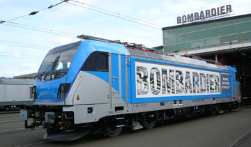 Bombardier TRAXX electric locomotive. PHOTO Bombardier