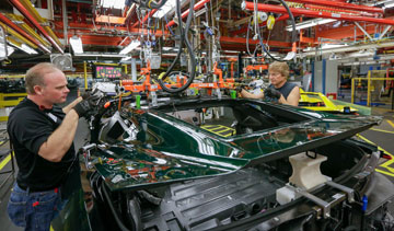 GM's Corvette assembly plant in Bowling Green, Ky. PHOTO General Motors