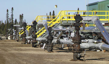 In-situ projects use steam assisted gravity drainage (SAGD) technology to inject steam into oilsands deposits and collect bitumen released by heat. PHOTO Suncor Energy
