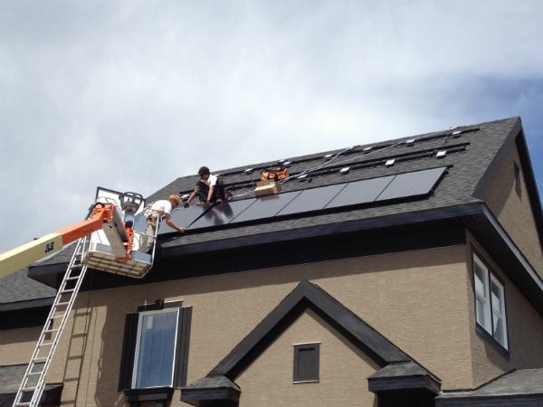 Solar panel installation. PHOTO Landmark Group.