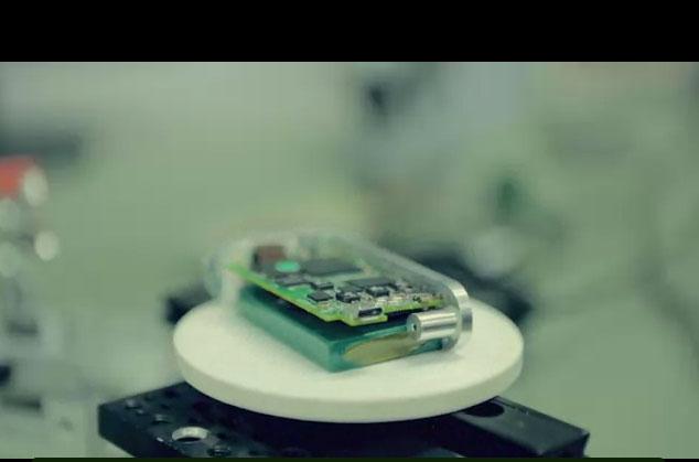 Screen capture of the SCiO miniature spectrometre taken from its video on Kickstarter