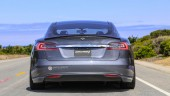 Unplugged Performance has unveiled its Tesla Model S demo car, featuring a host of aftermarket parts. PHOTO Unplugged Performance