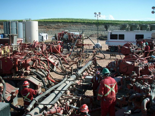 Fracking injects wells with chemical-laden water at high pressure. PHOTO: Joshua Doubek