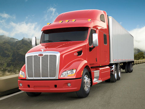 The Peterbilt Model 587 pictured above is SmartWay designated by the EPA