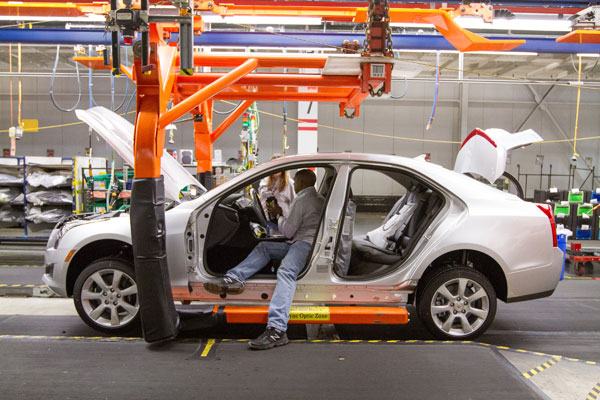 The Cadillac ATS and CTS models are built at GM's Lansing Grand River plant in Lansing, Mich. PHOTO GM