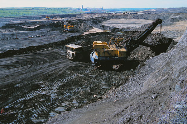 Open pit mining is conducted at Suncor's oilsands site near Fort McMurray, Alta. PHOTO Suncor