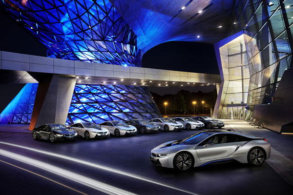 The BMW i8 plug-in hybrid sports car. PHOTO BMW