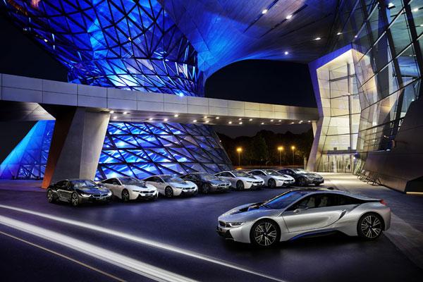 The BMW i8 plug-in hybrid sports car. PHOTO BMW